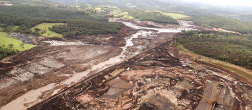 A destruição causado pela lama em Brumadinho têm responsáveis. (Foto/Reprodução)