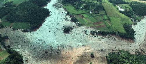 Imagem da tragédia após rompimento de barragem em Brumadinho (Divulgação/Presidência da República)
