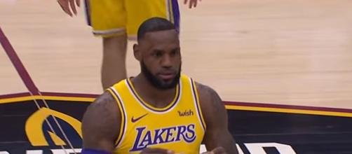 LeBron James soon to return to Lakers NBA team after injury - Image creit - ESPN | YouTube