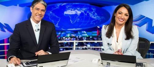 William Bonner e Patrícia Poeta (Reprodução - TV Globo)