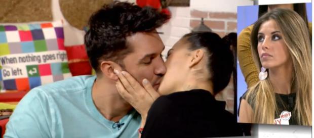 Santa tiene una cita con Amal que termina en besos (Mediaset)