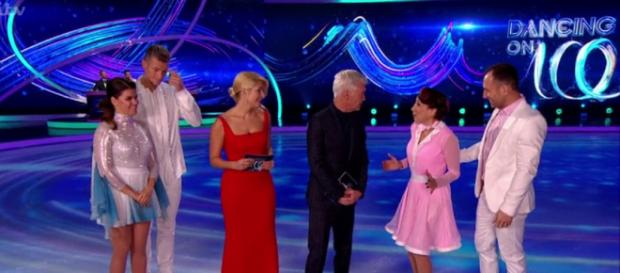 Two more Celebrities face the Skate-Off to secure their place in the competion for one more week (Image credit: Dancing On Ice/ITVhub)
