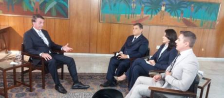 Bolsonaro em entrevista exclusiva no SBT. (reprodução SBT)