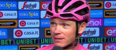 Chris Froome, vincitore dell'ultimo Giro d'Italia