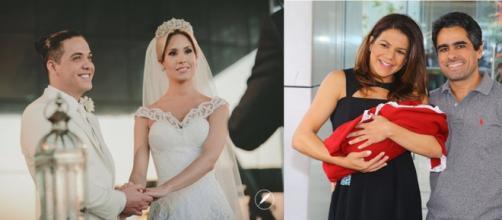 Celebridades se casaram com fãs. (Foto/montagem:ego.globo.com)
