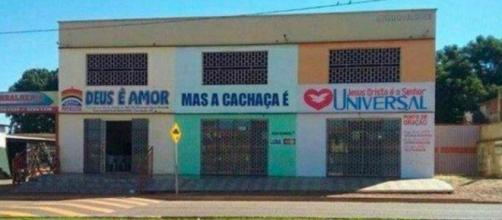 Na igreja, nos negócios ou até em construções a criatividade do brasileiro supera qualquer povo. (Reprodução)
