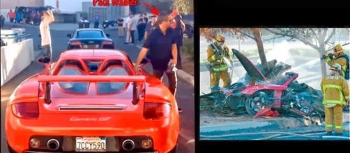 Último registro de Paul Walker instantes antes do acidente que lhe ceifou a vida (Reprodução/Google News)