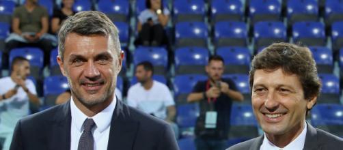 Maldini e Leonardo: dirigenti del Milan