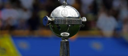 Aspecto del trofeo de la Copa Libertadores