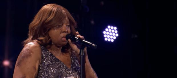 Kechi Okwuchi took gold from Simon on America's Got Talent: The Champions, and Heidi Klum had her fun spoiled. [Image source: AGT-YouTube]