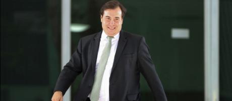 Candidato à presidência da Câmara, deputado Rodrigo Maia (DEM-RJ) tem o apoio de siglas de direita e de esquerda (Marcelo Camargo/Agência Brasil)