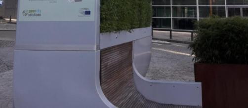 CityTree instalado en Bruselas frente a la Comisión Europea