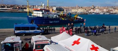 La nave Sea Wacth arrivata a Catania
