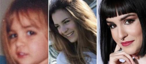 Natalia Lacunza de niña, adolescente y en la actualidad. / Fórmula TV