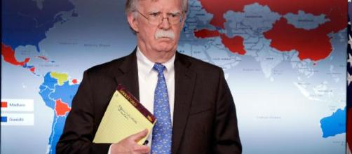 White House not tamping down tensions after Bolton seen holding ... - cnn.com