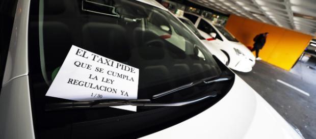 Los taxistas en Madrid presentan una nueva propuesta
