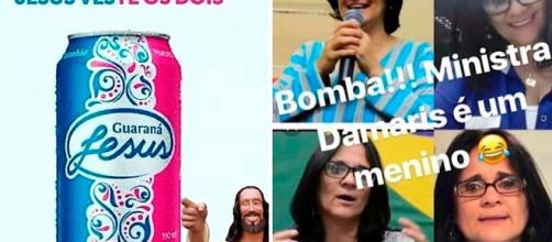 Após declaração polêmica de Damares Alves, memes circulam na internet. (Reprodução)