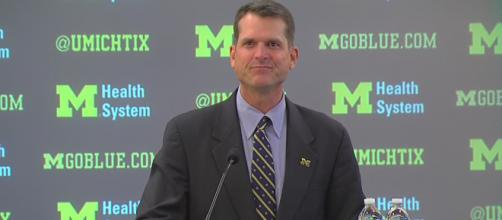 Coach Harbaugh could have an incredible 2020 class just by landing two local stars. - [WXYZ-TV / YouTube screencap]