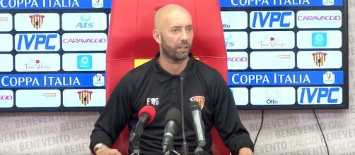 Cristian Bucchi, allenatore del Benevento