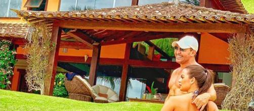 Eduardo Costa e a namorada (Reprodução: Instagram)