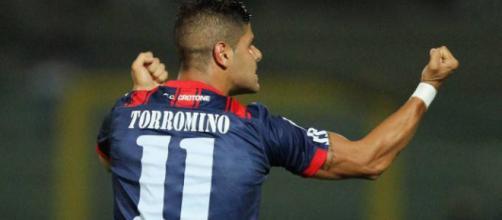 L'attaccante crotonese, Giuseppe Torromino