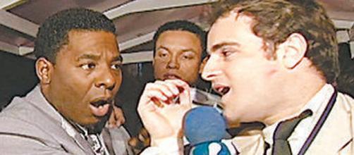 Netinho não gostou de uma piada e esmurrou Vesgo (Reprodução).