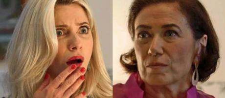 A personagem de Letícia Spiller sofre nas mãos da vilã incorporada por Lilia Cabral. (Reprodução/TV Foco)