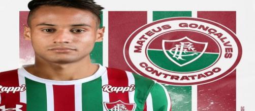 Matheus Gonçalves, novo atacante do Fluminense (Foto: Twitter Oficial do FFC)