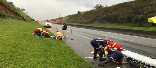 Policiais são atropelados em Lorena. Fonte: G1
