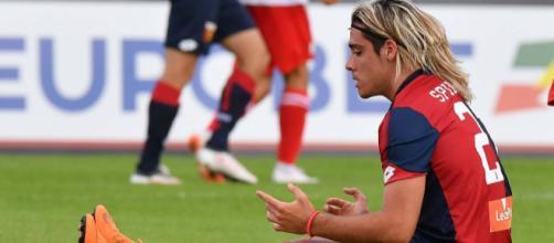 L'attaccante del Genoa in prestito al Crotone, Claudio Spinelli