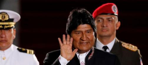 Presidente boliviano Evo Morales en la asunción de Nicolás Maduro.