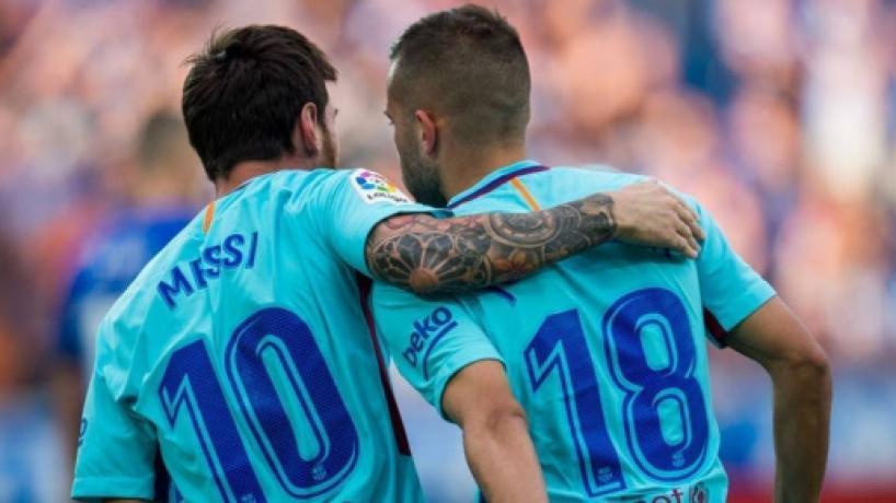 Barcelona pode perder Jordi Alba, o 'parceiro ideal' de Messi, para a Juventus