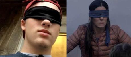 Internautas gravam vídeo andando e realizando tarefas de olhos vendados, via washingtonpost.com