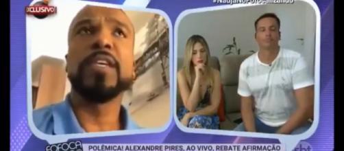 Alexandre Pires se revolta com jornalista Leo Dias - Foto/Reprodução/SBT