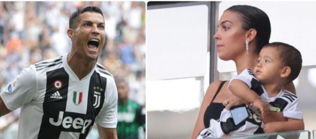 Cristiano Ronaldo, Georgina e Mateo (Imagem via Youtube)