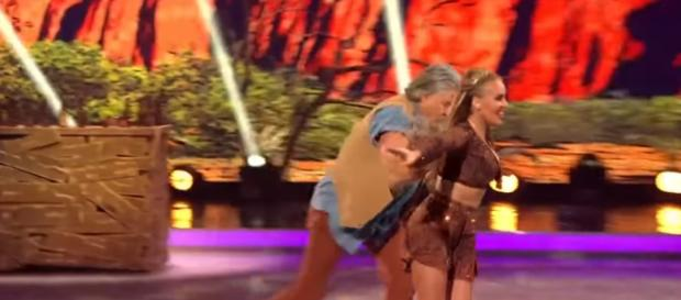 Mark Little slips up in his first 'Dancing On Ice' performance (Image Credit: Dancing On Ice/ ITV YouTube.com)