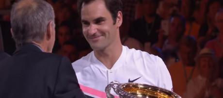 Roger Federer is the defending champion at Melbourne. Photo: screencap via Australian Open TV/ YouTube