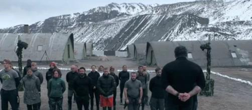 Ant Middleton and his team welcome 25 new recruits to the process (Image Credit: SAS:Who Dares Wins/4od.com)