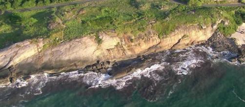 Casal morre arrastado por onda no fim da Praia da Macumba - Foto/Reprodução/TVGlobo
