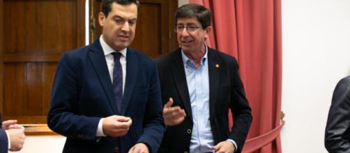 Ciudadanos y PP ya se reparten consejerías en Andalucía