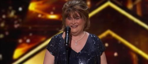 Susan Boyle became a golden finalist on the first night of America's Got Talent: The Champions. [Image source: AGT-YouTube]