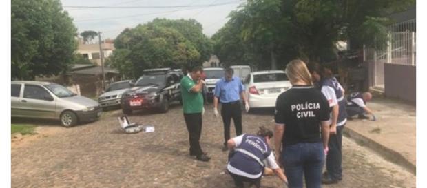Depois do crime, a perícia foi chamada ao local (Foto:divulgação Polícia Civil)