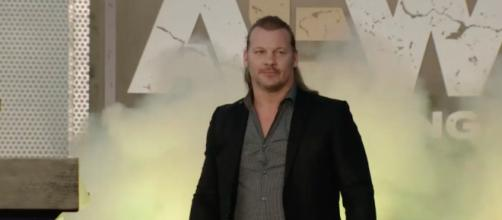 Chris Jericho at the All Elite Wrestling fan rally on Tuesday (Jan. 8). - [Being the Elite / YouTube screencap]