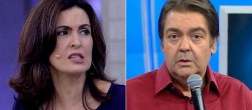 Fátima Bernardes e Faustão estão na lista dos apresentadores que mais faturariam na Globo. (Foto Reprodução)