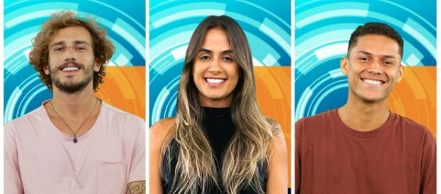 Alan, Carolina e Danrley disputam o BBB19 (Foto: TV Globo)