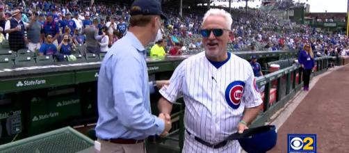 Joe Maddon is parting ways with the Chicago Cubs after a struggling season. [Image Credit: CBS Chicago/YouTube]