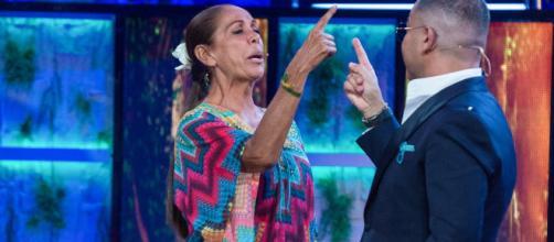 Jorge Javier Vázquez e Isabel Pantoja. / Telecinco