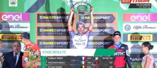Thibaut Pinot vincitore de Il Lombardia di un anno fa
