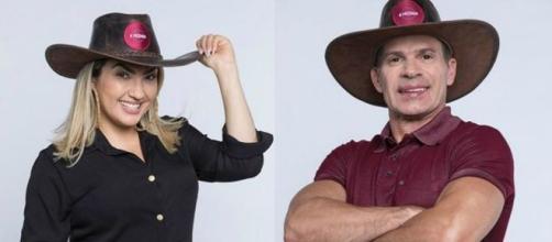 Andréa, Bifão e Viny declaram torcida por Túlio na roça desta semana. Reprodução/RecordTV
