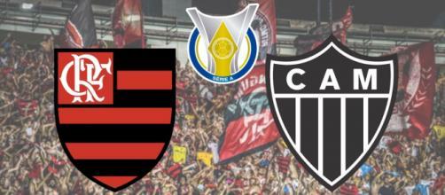 Flamengo x Atlético-MG terá transmissão ao vivo no pay-per-view. (Fotomontagem)